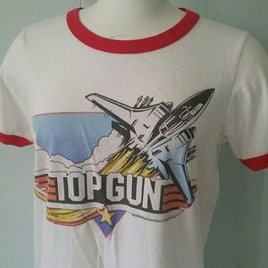 36a0a1ae Junk Food Clothing Tops | Top Gun Tshirt Retro Style Ringer Tee ...